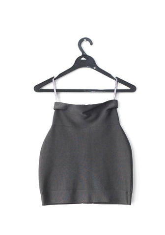 Herve Leger Grey Knit Skirt XS