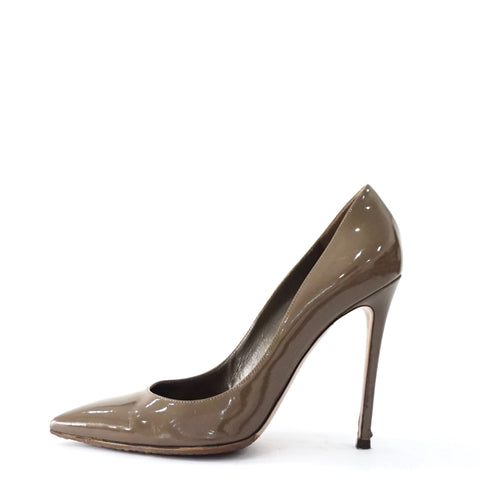 Gianvito Rossi Brown Patent Pumps 38.5