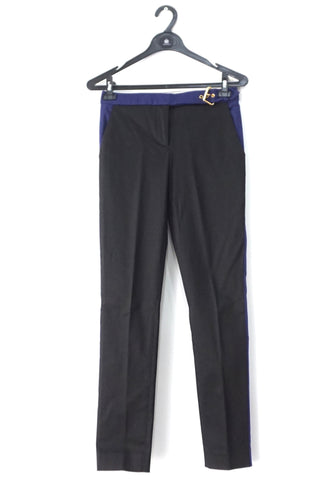 Peter Som Black Trousers with Blue Side Line 0