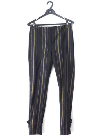 Adam Lippes Striped Black Trousers 2