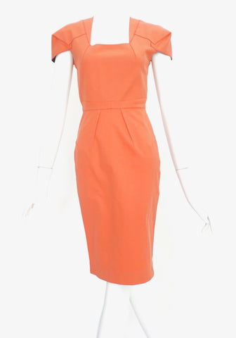 Roland Mouret Coral Dress US 2