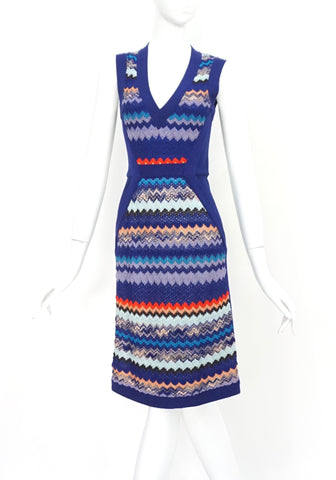 Missoni Blue Midi Dress 38
