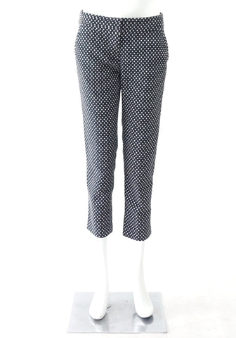 Tory Burch Navy White Polka Dot Pants 4