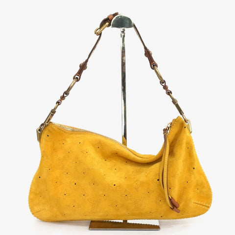 Louis Vuitton Limited Edition Yellow Mais Monogram Suede Onatah Pochette Bag