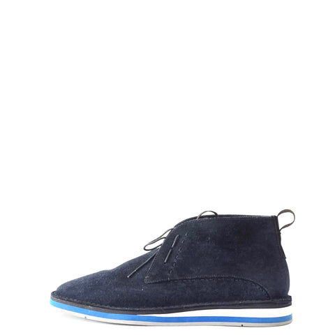 Fendi Navy Blue Suede Mens Ankle Boots 6