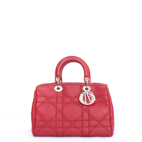 Dior Lady Dior Granville Polochon Cannage Lambskin Boston Bag