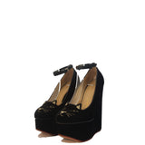 Charlotte Olympia Black Smoking Cat Wedges 37,5
