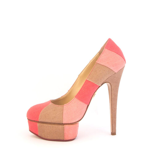 Charlotte Olympia Pink Dolly Pumps 37
