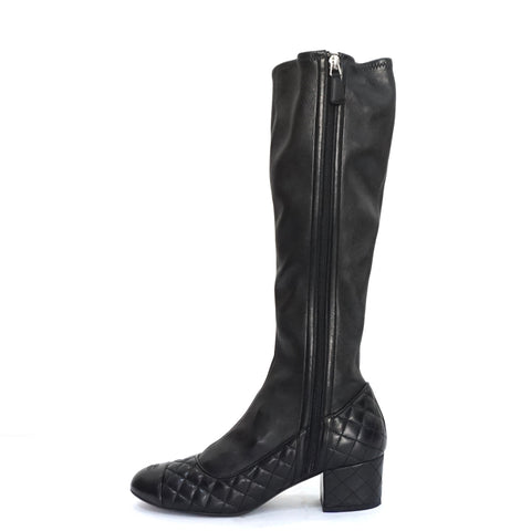 Chanel Black High Boots 40.5