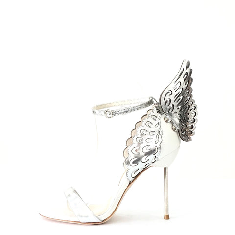 Sophia Webster Brand New Silver Wings Sandals 37.5