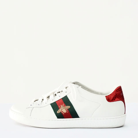 Gucci Bee White Sneakers 37