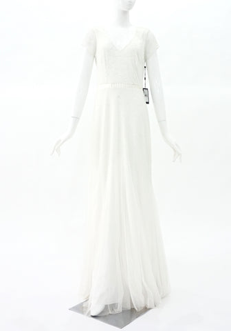 Adrianna Papell Brand New White Evening Dress 6