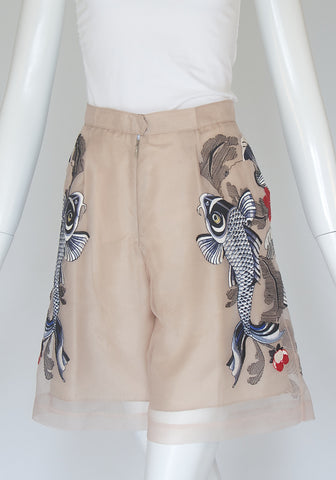 3.1 Phillip Lim Embroidered Shorts (Size 0)
