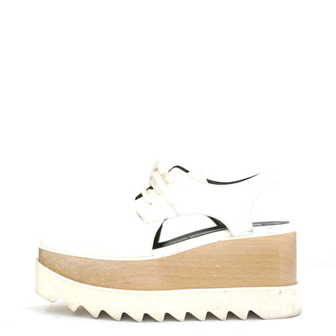 Stella McCartney White Cut-Out Elyse Platforn Sneakers 36
