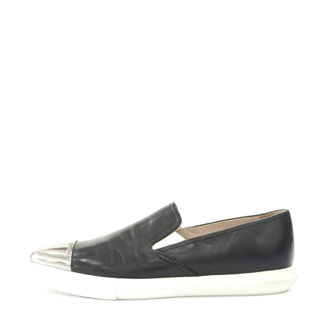 Miu Miu Black Slip-on Pointy Flats 37.5