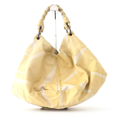 Bottega Veneta Yellow Aquilone Hobo Bag