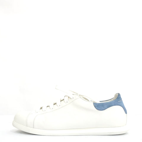 Alexander McQueen White and Blue Leather Sneakers 39