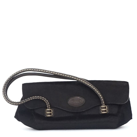 Tods Dark Brown Pony Hair Shoulder Bag