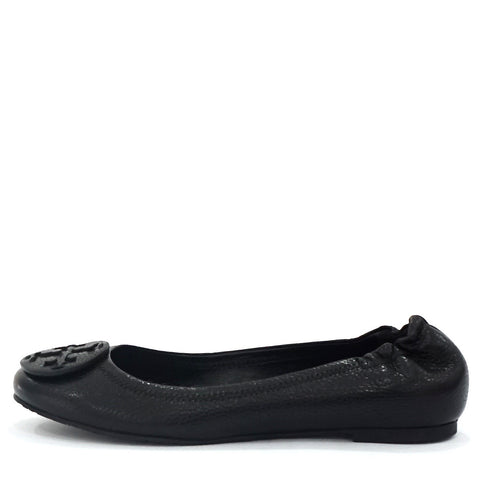 Tory Burch Black Leather Flat Shoes 9.5
