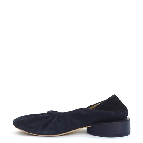 Jacquemus Navy Suede Les Ballerines Flats 40