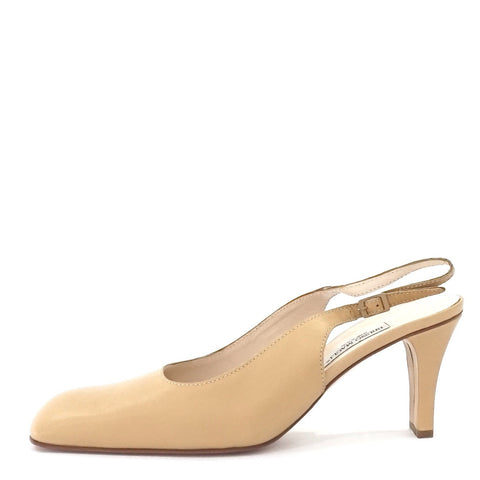 Bruno Magli Cream Sling Back 39