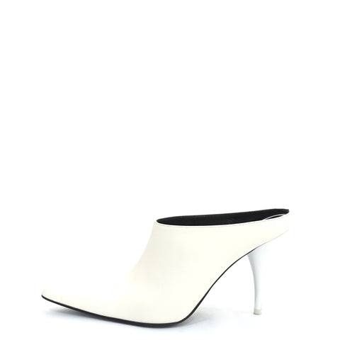Celine White Pointed Mules 36