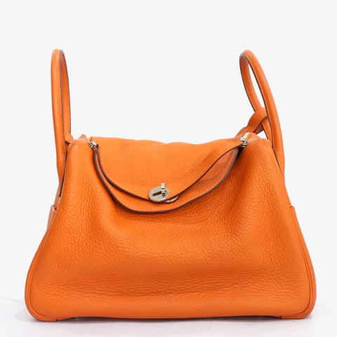 Hermes Lindy 34 Orange Clemence PHW