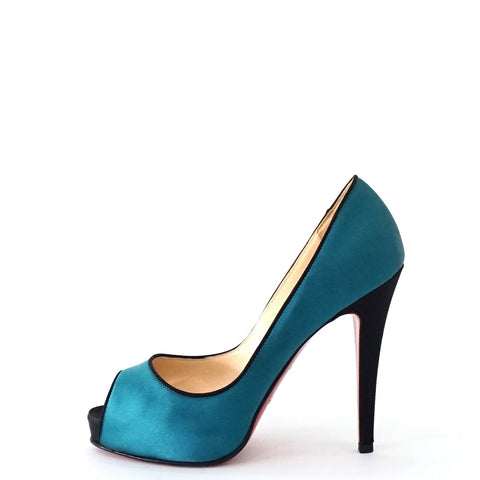 Christian Louboutin Satin Peep Toe Pumps Shoes 36