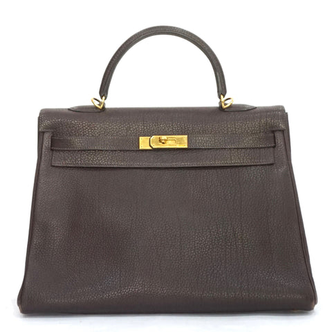 Hermes Kelly 35 Retourne Cacao Togo GHW PRICE BY REQUEST