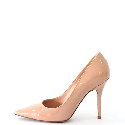 Dior Patent Nude Pink Pumps Shoes 35.5