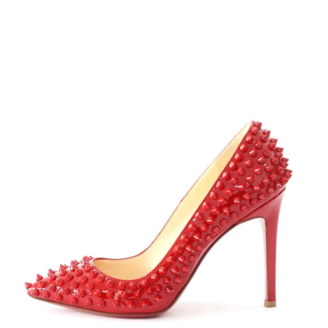 Christian Louboutin Red Studs Pointy Pumps 36