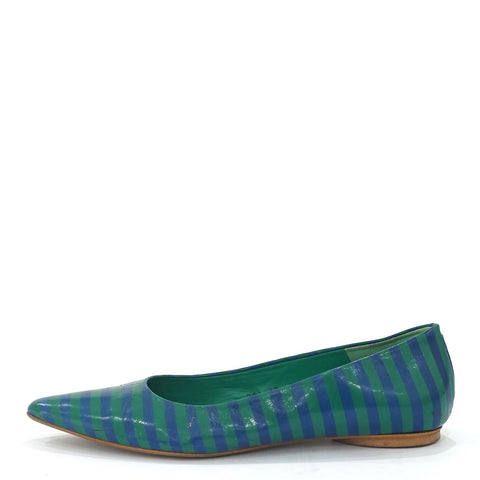 Jeffrey Campbell Green Pointy Flats 9