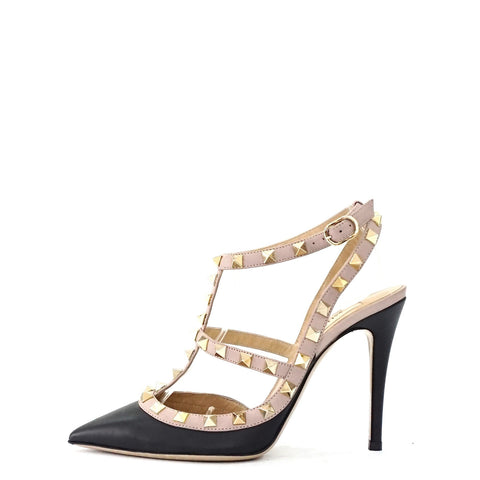 Valentino Black Rockstud Pumps 36