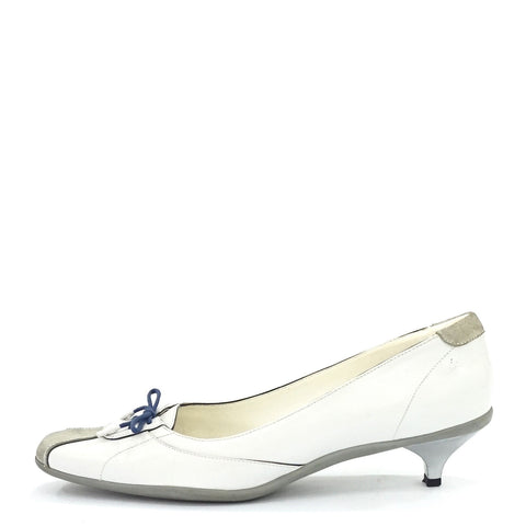 Prada White Kitten Shoes 39.5
