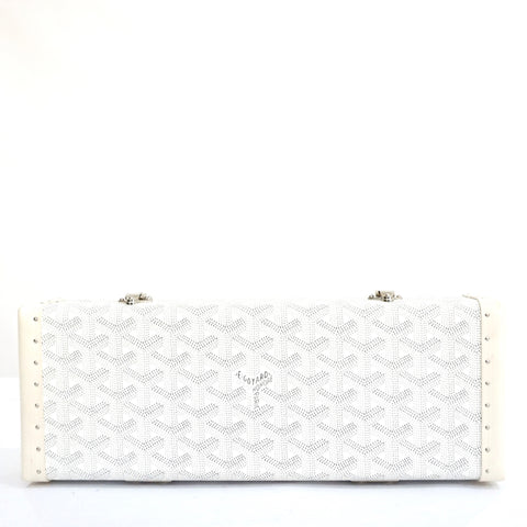 Goyard White Saint Honore Clutch Limited Edition