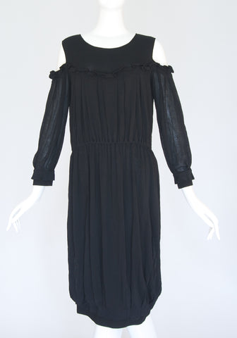 YSL Open Shoulder Black Dress (Size S)