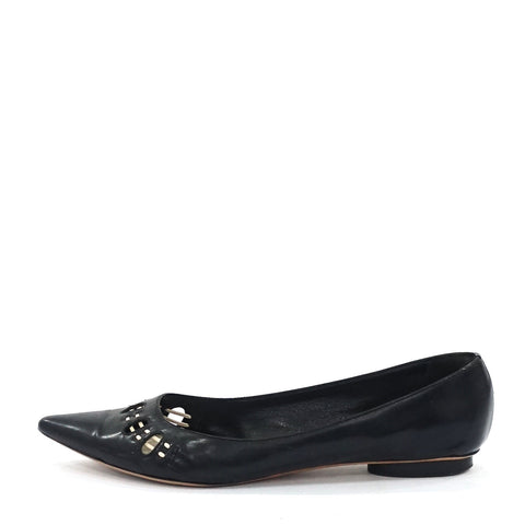 Marc Jacobs Black Pointy Flats 39