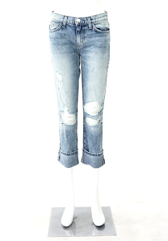 Current Elliott High Waist Straight Washed Denim 26
