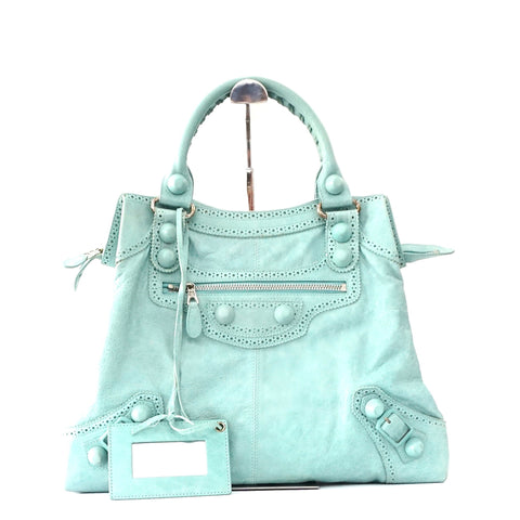 Balenciaga Ice Mint Brogues Brief Bag