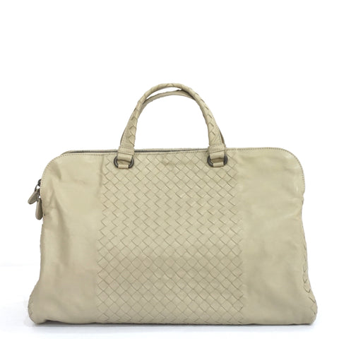 Bottega Veneta Taupe Double Compartment Tote Bag