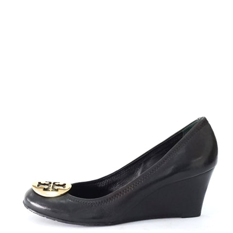 Tory Burch Black Wedge Pumps 7.5M