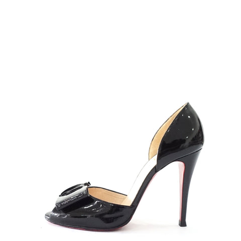Christian Louboutin Black Patent O'rdissay Shoes 39