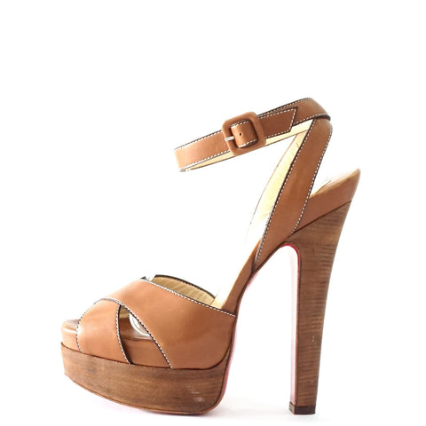 Christian Louboutin Brown Platform Sandals 39