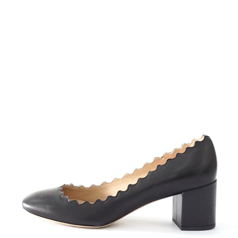 Chloe Rosa Scallop Pumps 35.5
