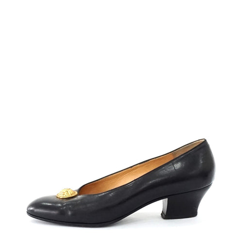 Celine Black Vintage Pumps 38