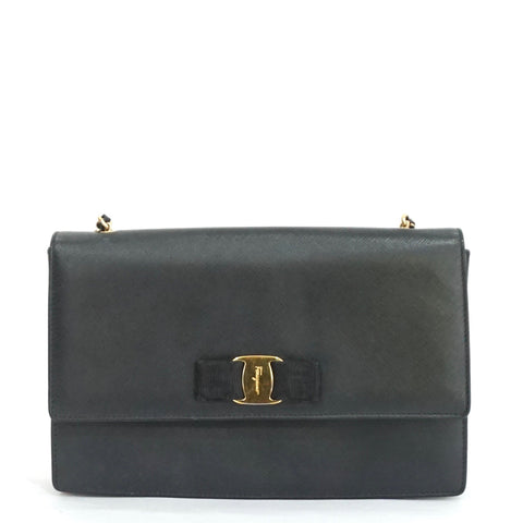 Salvatore Ferragamo Black Chain Bag