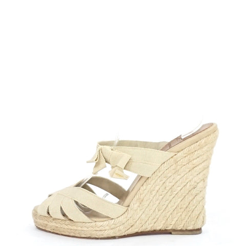 Christian Louboutin Sand Espadrilles Wedges 37