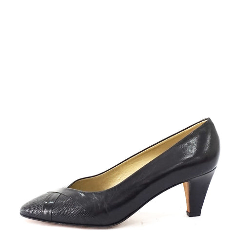 Gucci Black Vintage Pumps 38