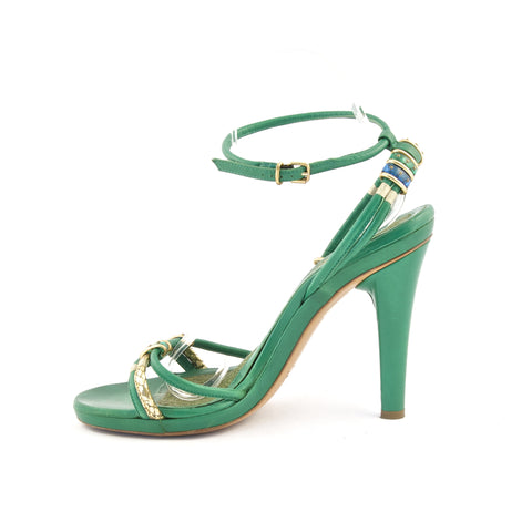 Marc Jacobs Green Strappy Sandals 39.5