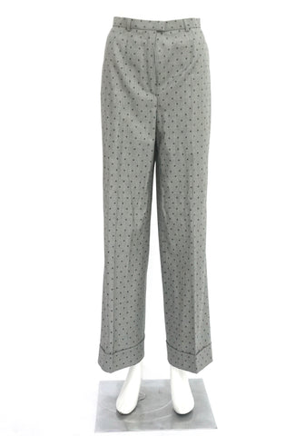 Escada Grey Polkadot Trousers 40